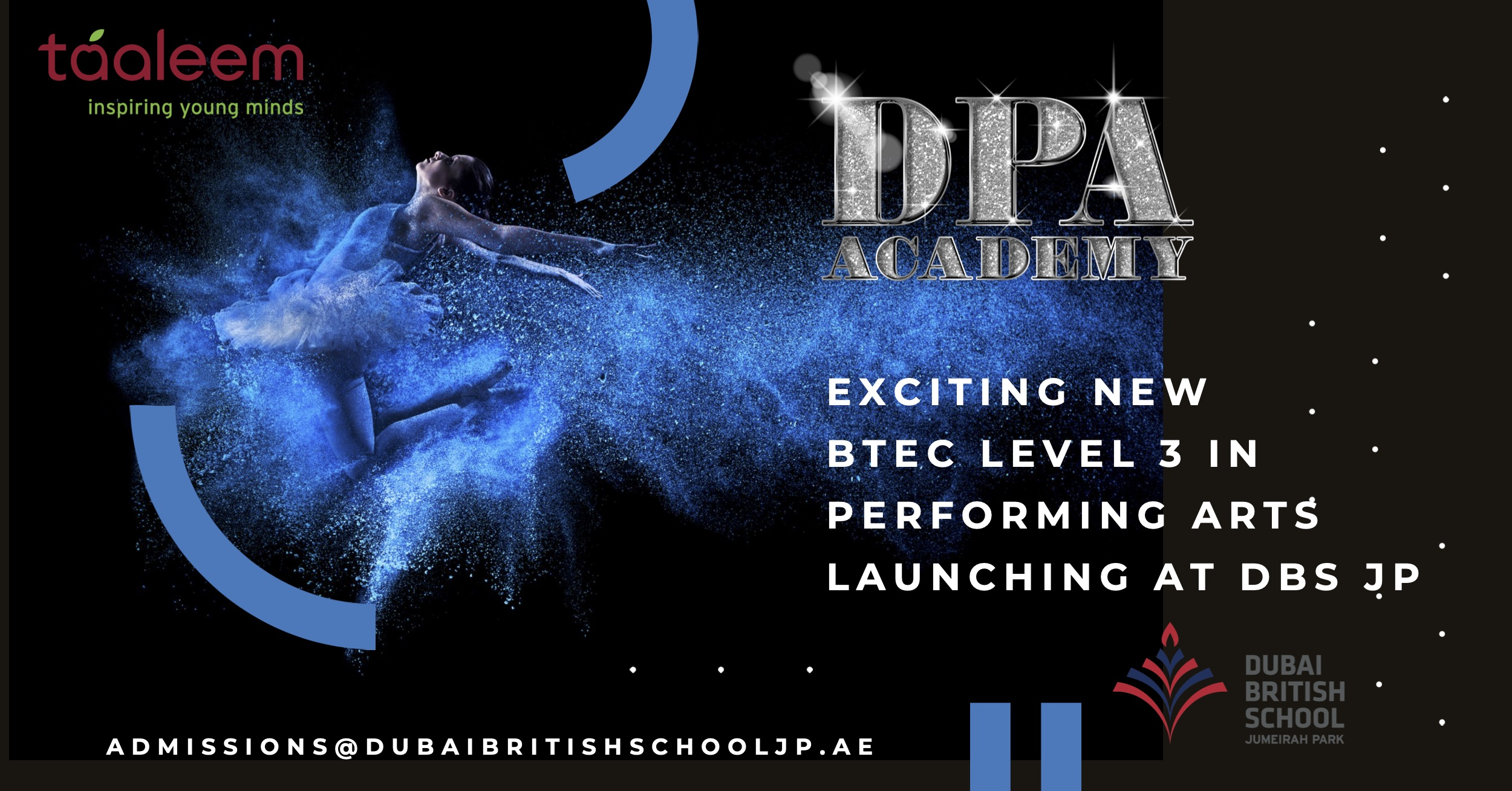 DPA LAUNCHES THE FIRST BTEC IN PERFORMING ARTS WITH TAALEEM.