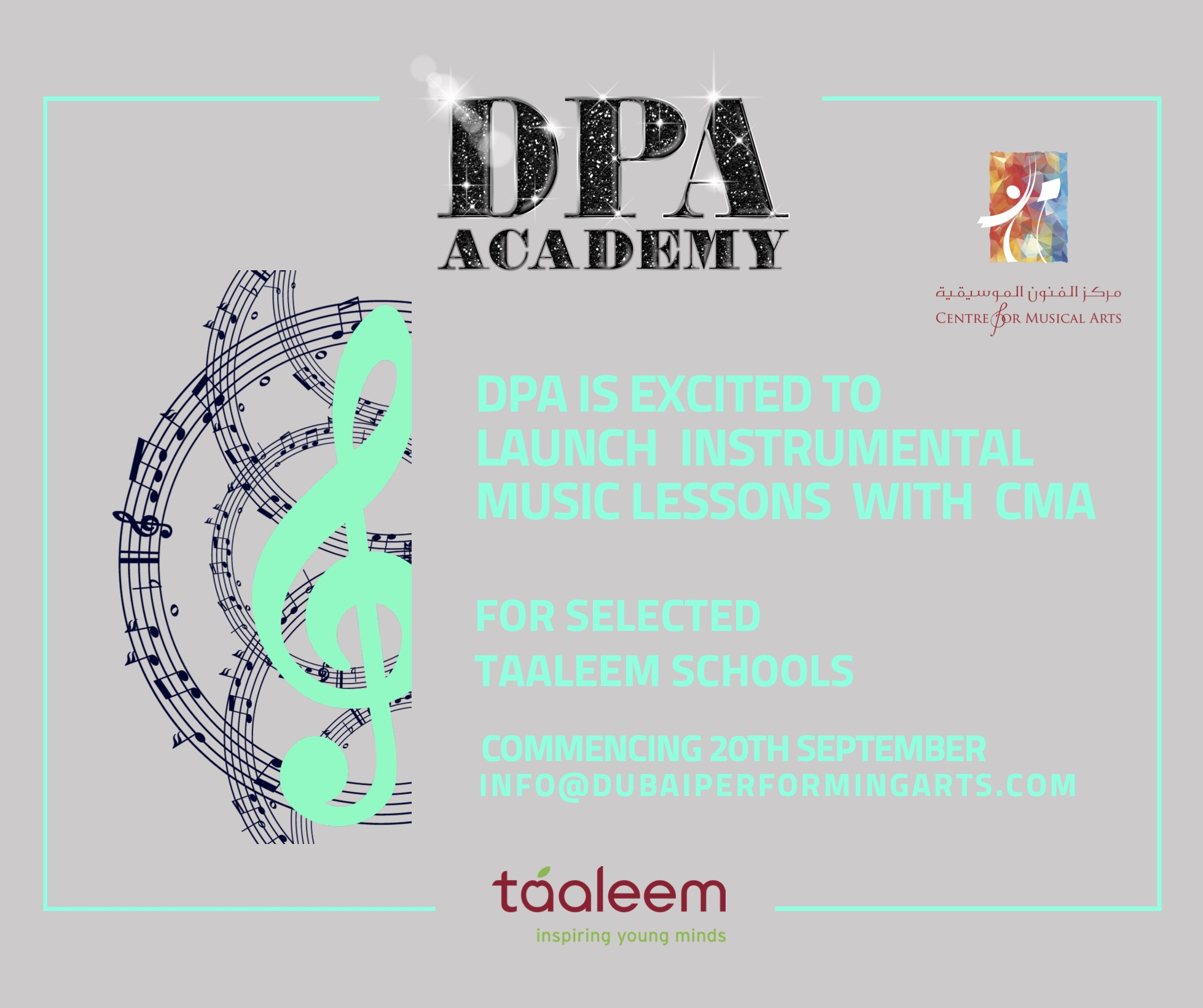 DPA PARTNERS WITH CMA TO LAUNCH MUSIC LESSONS.
